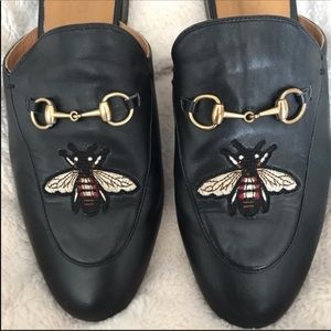 Gucci authentic embroidered mules
